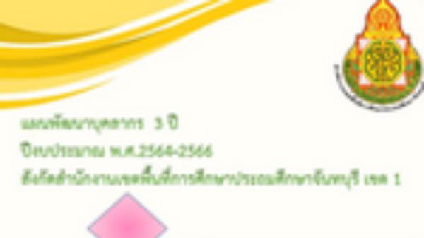 แผนพัฒนาบุคลากร 3 ปี (2564-2566)
