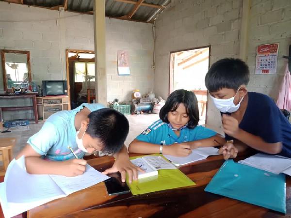 ทดลองการทำการเรียนการสอนออนไลน์  โรงเรียนบ้านหนองเจ็กสร้อย